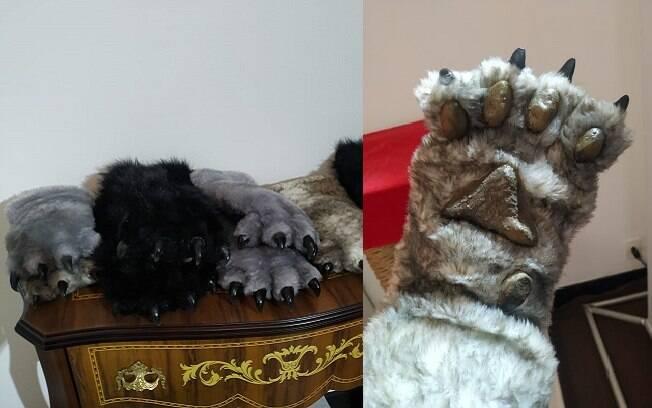 As luvas representam patas de gatos