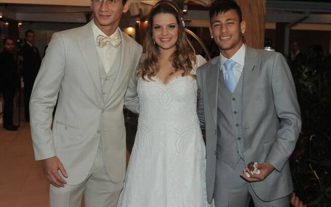 Ganso, Neymar e Giovanna no casamento do  jogador do São Paulo