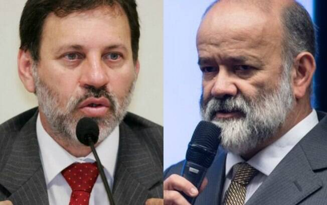 Ex-tesoureiros do PT, Delúbio (esquerda) e Vaccari (direita). começaram a cumprir pena após serem condenados em segunda instância.