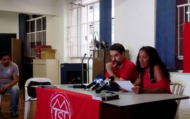 Coletiva dos líderes do MTST na tarde desta quarta-feira (18)
