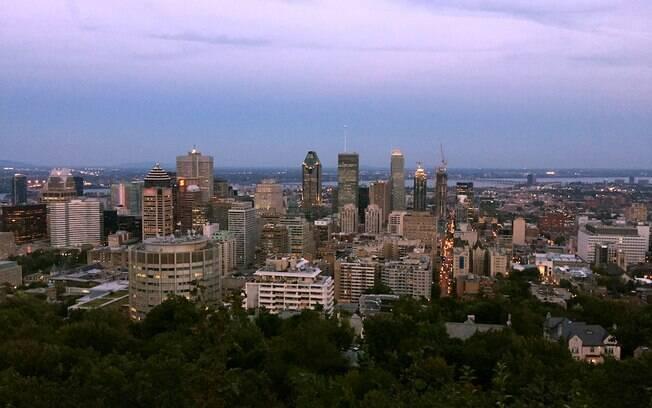 Vista do Mont Royal para a cidade