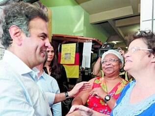 Caminhada. Em evento político no Espírito Santo, Aécio voltou a prometer corte de ministérios se for eleito