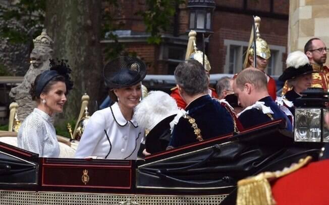 Kate Middleton acompanha Príncipe William em evento real nesta segunda-feira (17)