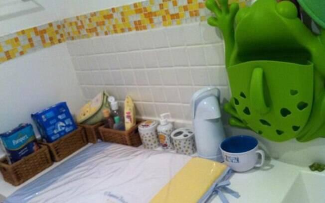 O banheiro de Dom também já está pronto
