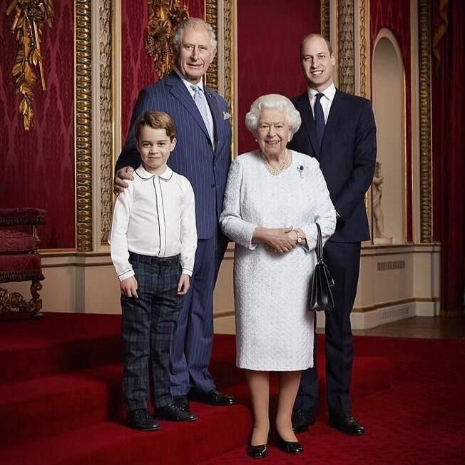 Rainha Elizabeth II e seus herdeiros