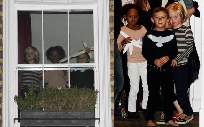 Filhos de Angelina Jolie e Gwen Stefani se divertiram nessa segunda-feira (26)