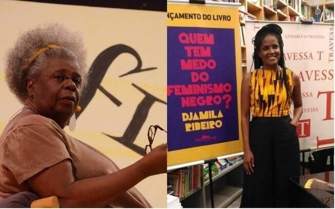 Conceição Evaristo (esq) e Djamila Ribeiro são importantes autoras brasileiras do feminismo negro