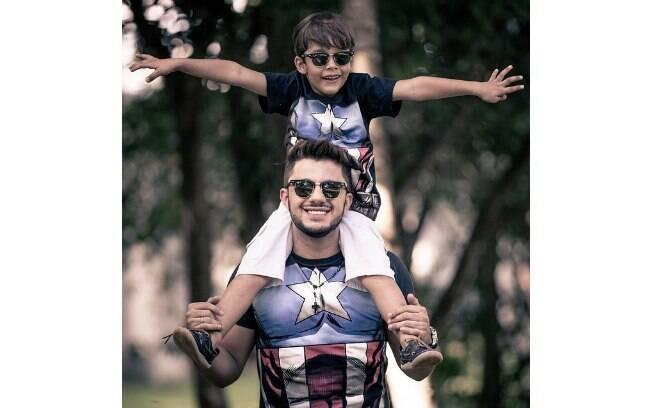 Cristiano e o filho mais velho João Gabriel. Foto: Reprodução/Instagram
