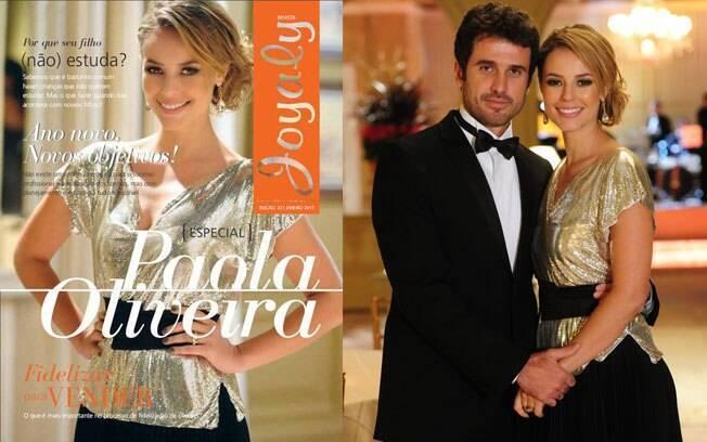 Paola Oliveira na capa da revista e como Marina nos primeiros capítulos de