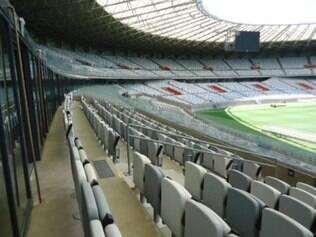 Um dos lugares mais nobres do estádio, setor VIP Superior tem direito à buffet