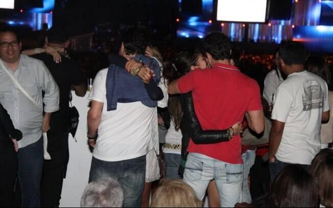 Marcelo Serrado e Roberta: muito beijos