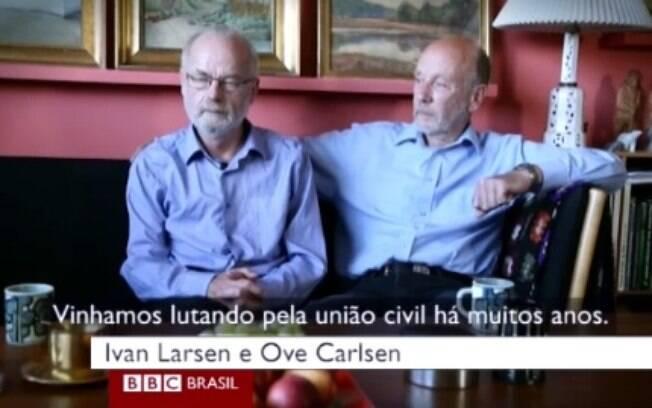 Casal dinamarquês conta sobre o relacionamento e o casamento deles, o segundo na Dinamarca quando a união civil foi aprovada, em 1989