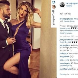 Bruno Gagliasso com a mulher, Giovanna Ewbank: olha a mão boba!