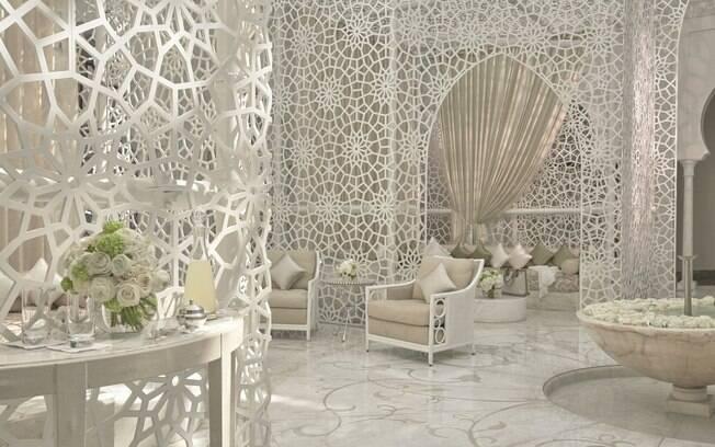 O turista pode aproveitar todos os detalhes do Royal Mansour Marrakech para fazer belas fotos de viagem