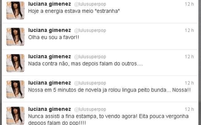 Luciana Gimenez critica Fina Estampa no Twitter
