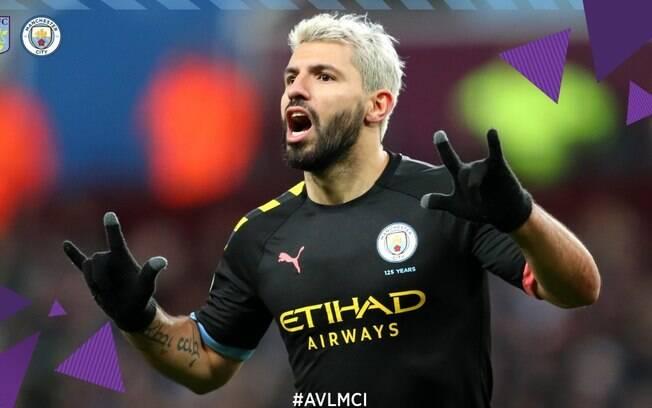 Aguero faz história e City atropela o Aston Villa no Campeonato Inglês
