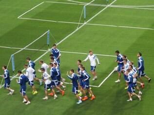 Treino da seleção argentina no Independência foi leve e desapontou alguns torcedores