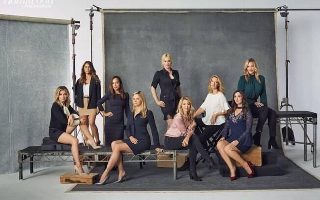 As melhores fotos de famosos de 2017: atrizes que acusaram Harvey Weinstein de abuso sexual para o ''The Hollywood Reporter''. Foto: reprodução/Hollywood Reporter