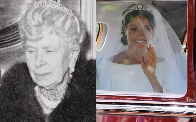 Meghan Markle usa tiara da Rainha Mary no Casamento Real