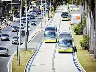 Compartilhadas. Táxis com destino à Cidade Administrativa e ao aeroporto poderão usar pistas exclusivas