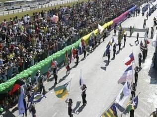 Tradição.  O desfile de 7 de Setembro foi bastante prestigiado pelos betinenses durante muitos anos