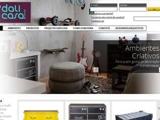 Na Dali Casa os produtos aparecem em ambientes, facilitando a observação de tamanhos e estilos