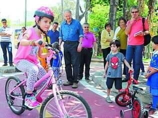 Prefeito Marcio Lacerda inaugurou ciclovia para crianças no domingo