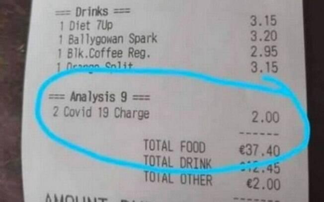 Bar cobra taxa de Covid-19 dos clientes