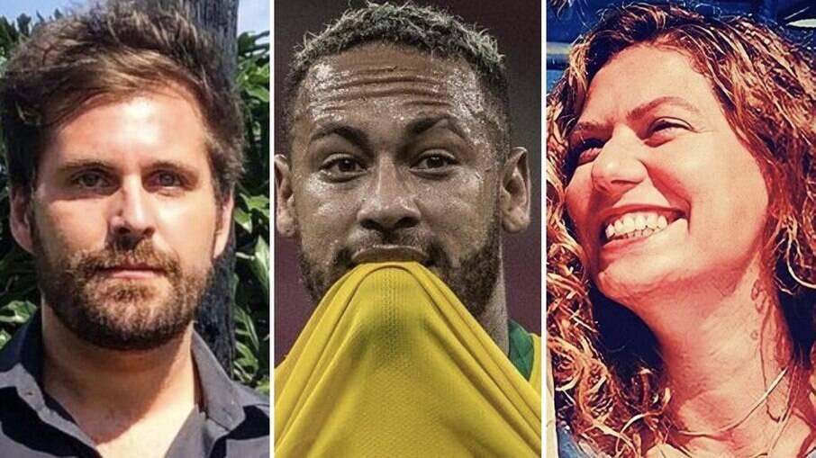 Thiago Gagliasso, Neymar Jr. e Patrícia Pillar