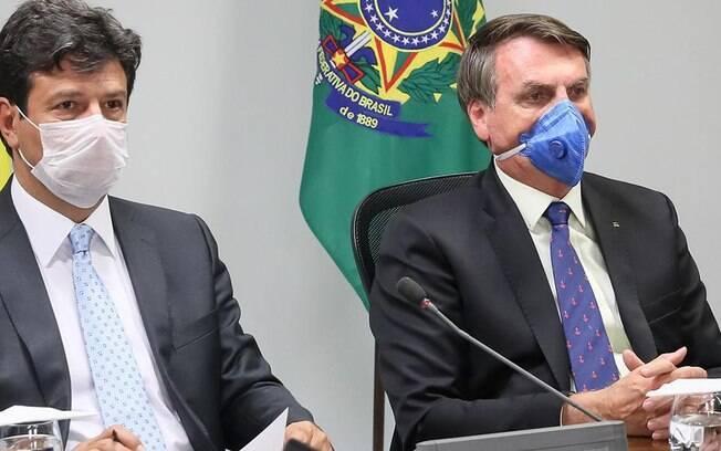 Presidente Jair Bolsonaro e Ministro da Saúde Luiz Henrique Mandetta