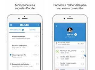 Doodle é uma ferramenta online que simplifica o processo de agendamento de eventos disponível para iOS e na versão web