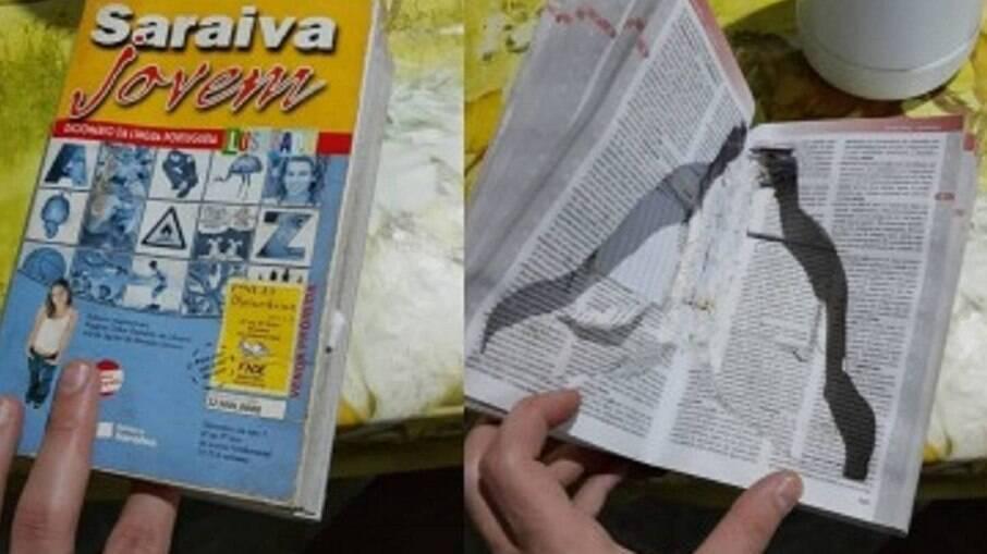 Livro com esconderijo para armazenar armas é encontrado pela Polícia Federal em operação contra deputados federais
