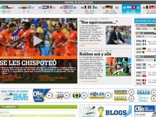 O diário argentino Olé brincou com a frase do Chaves: 'Se escapoliram'