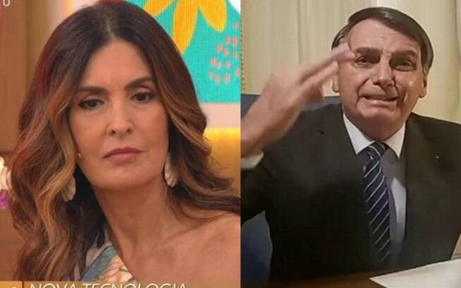 Fátima Bernardes e Bolsonaro