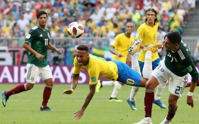 Brasil x México Neymar