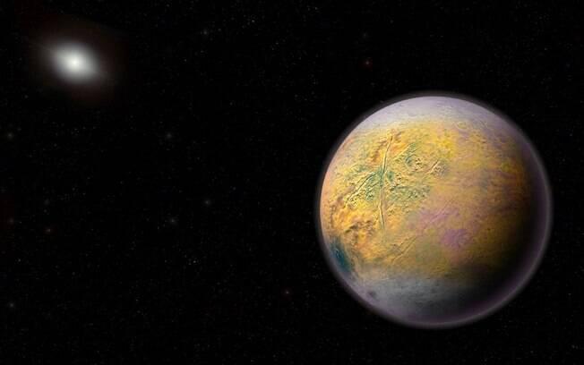 O novo planeta anão do Sistema Solar tem apenas 300 km de diâmetro e está na região externa do sistema