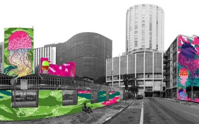 Projeto visa transformar centro de São Paulo no fundo do mar.