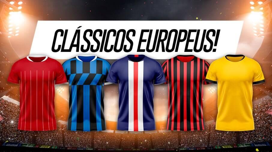 Clássicos europeus agitam fim de semana de futebol