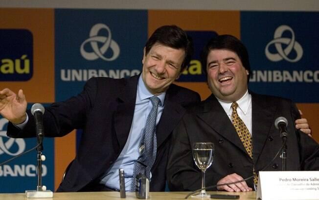 Roberto Setúbal (presidente do itaú) e Pedro Moreira Salles (presidente do unibanco) falam sobre a fusão dos dois bancos