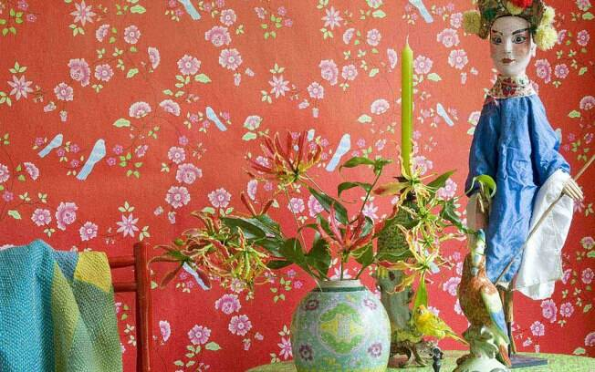Papel de parede da coleção Room Seven da grife espanhola Coordonné, R$ 466,56 o rolo com 50 cm x 10 m, na By Floor