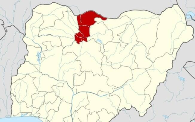 mapa com cidade em destaque
