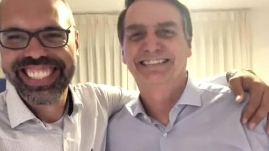 Allan dos Santos e Bolsonaro