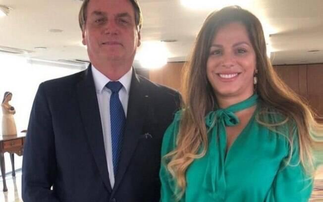 Presidente Jair Bolsonaro e a dentista Edianne Abreu