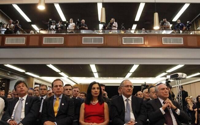 Também participaram da homenagem o governador de São Paulo, Geraldo Alckmin, e o prefeito da capital, João Doria