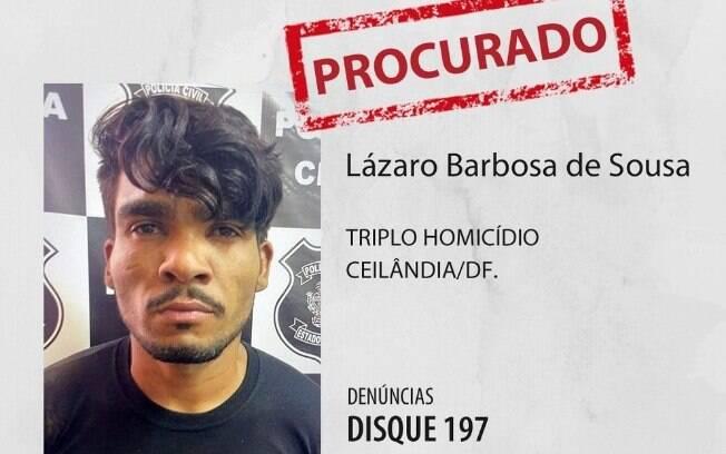Cartaz de procurado de Lázaro Barbosa de Souza