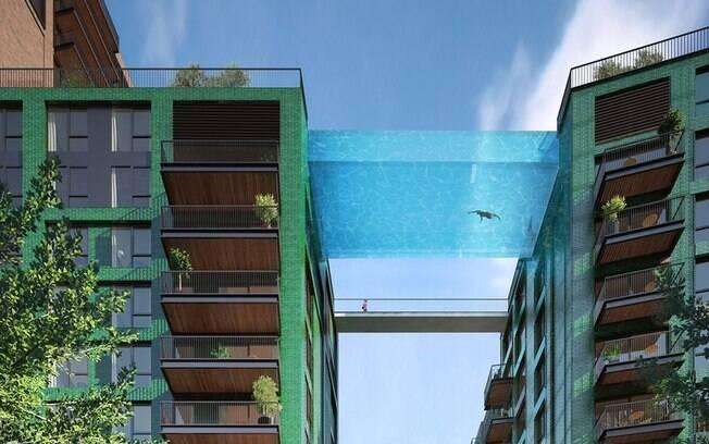 Projeto prevê piscina suspensa no centro de Londres