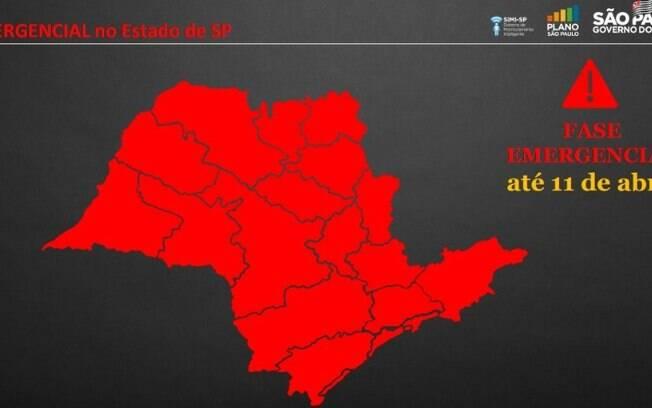 Estado prorroga fase emergencial em SP até 11 de abril