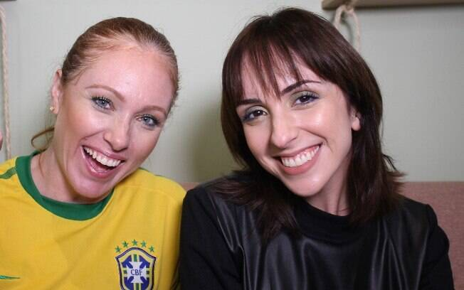 Cacá Filippini e Jú Araújo criam uma maquiagem super desmplicada para curtir os Jogos da Copa do Mundo