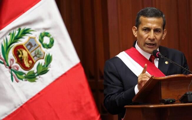 Presidente do Peru faz discurso no dia da independência do país, em Lima