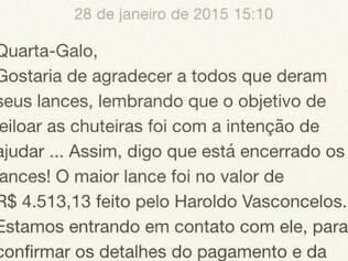Marcos Rocha irá doar valor para população carente de Sete Lagoas